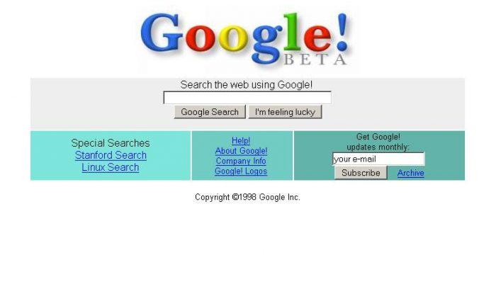 Página original / quem fundou o Google