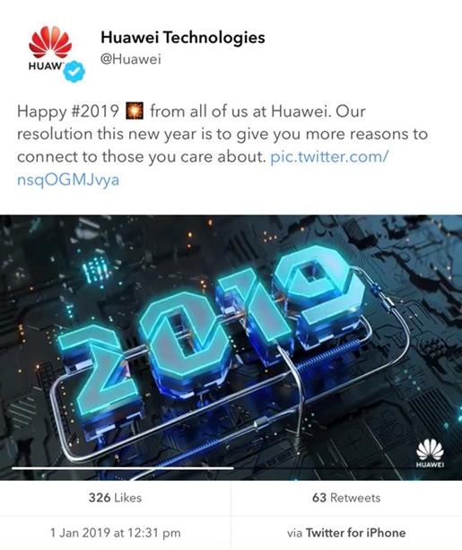 Huawei - tweet via iPhone