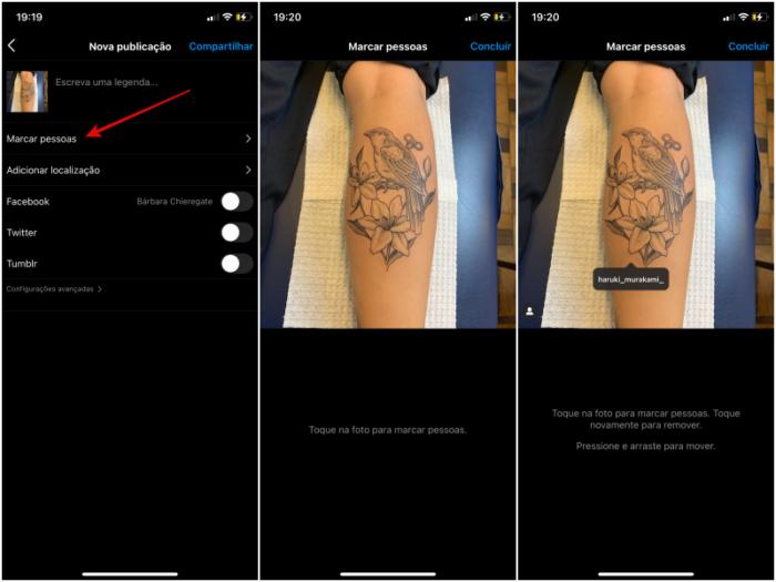 Como marcar alguém no Instagram (Imagem: Reprodução/Instagram)