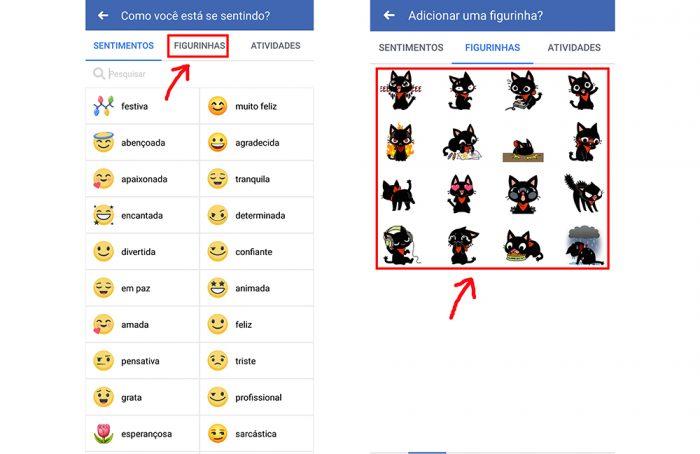 facebook figurinhas / reprodução