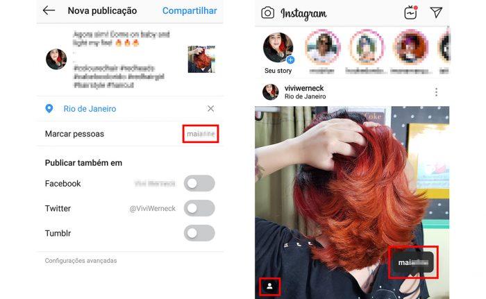 instagram marcar pessoas / reprodução