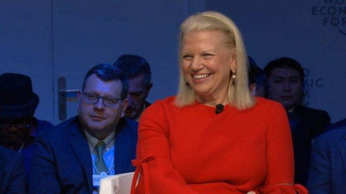 Ginni Rometty em Davos (foto: IBM)