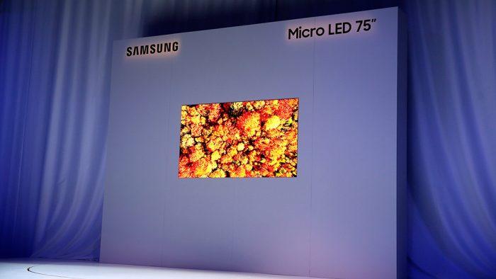 Samsung apresenta TV microLED modular de 75 polegadas na CES 2019