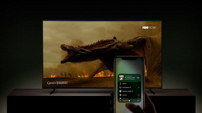 Smart TVs da Samsung com iTunes e AirPlay 2  - samsung smart tv airplay 2 700x394 - Apple lança novo app TV no iOS 12.3 e ativa AirPlay em TVs da Samsung