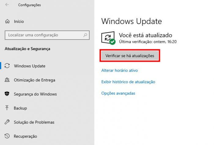 Windows 10 / Windows Update / como atualizar drivers