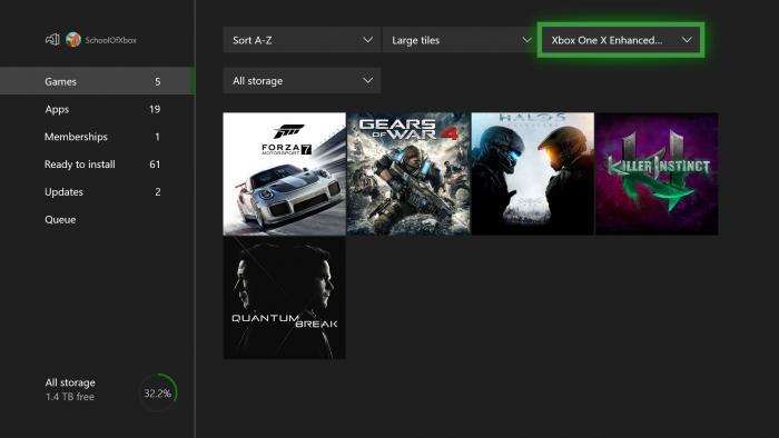 Microsoft / jogos do Xbox One X já otimizados / 4K