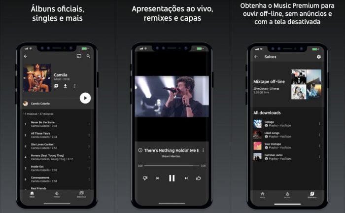 YouTube Music / baixar música no iphone