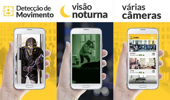 Android / Alfred / câmera segurança celular