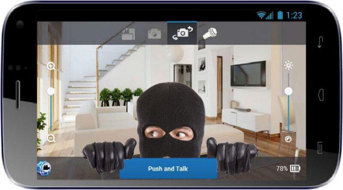Android cecurity camera / câmera segurança celular