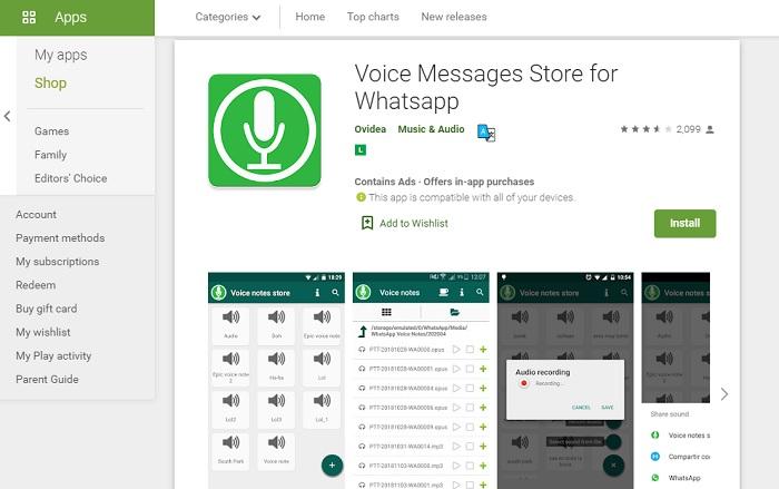 como salvar audios do whatsapp / PlayStore / Divulgação