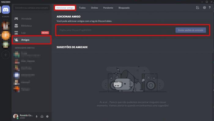 Ferramenta de busca de usuários do Discord / como adicionar amigos no discord
