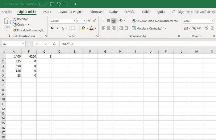 Microsoft Excel / como multiplicar no excel