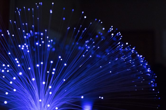 optical fiber / illuminated / pexels
