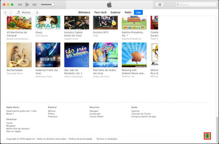 iTunes / app store estados unidos