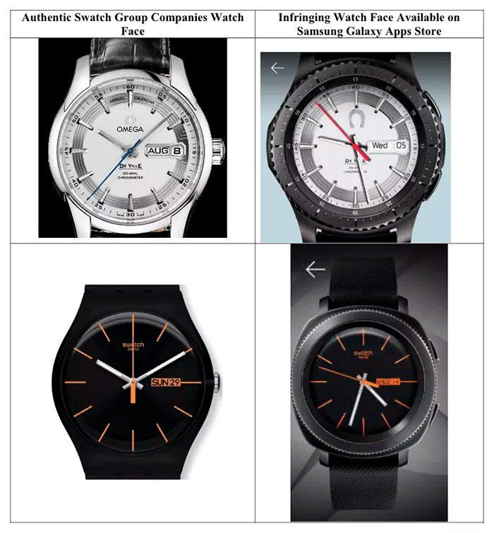Samsung é processada pela Swatch por cópias de mostradores de relógio