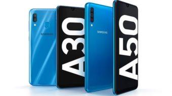 Samsung Galaxy A30 e A50 são os intermediários de tela grande e bateria de 4.000 mAh