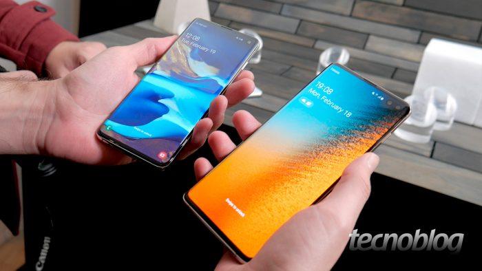 Samsung Galaxy S10 e S10+ (Imagem: Paulo Higa/Tecnoblog)