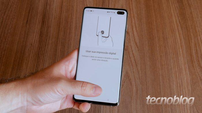 Samsung Galaxy S10+ biometria google preenchimento senhas
