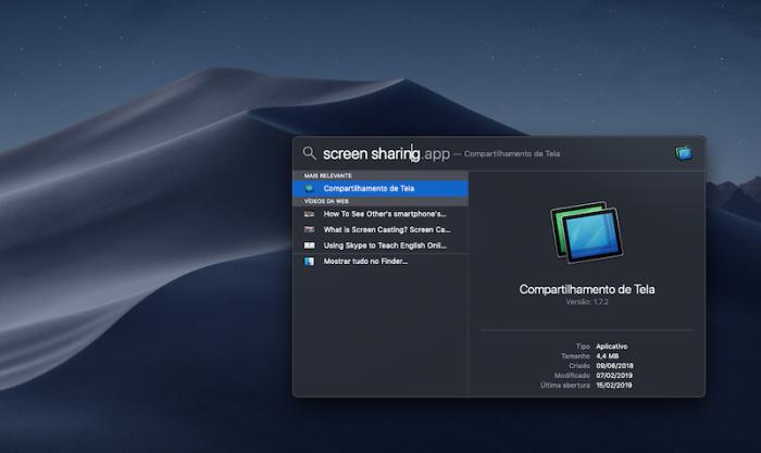 screen sharing apple