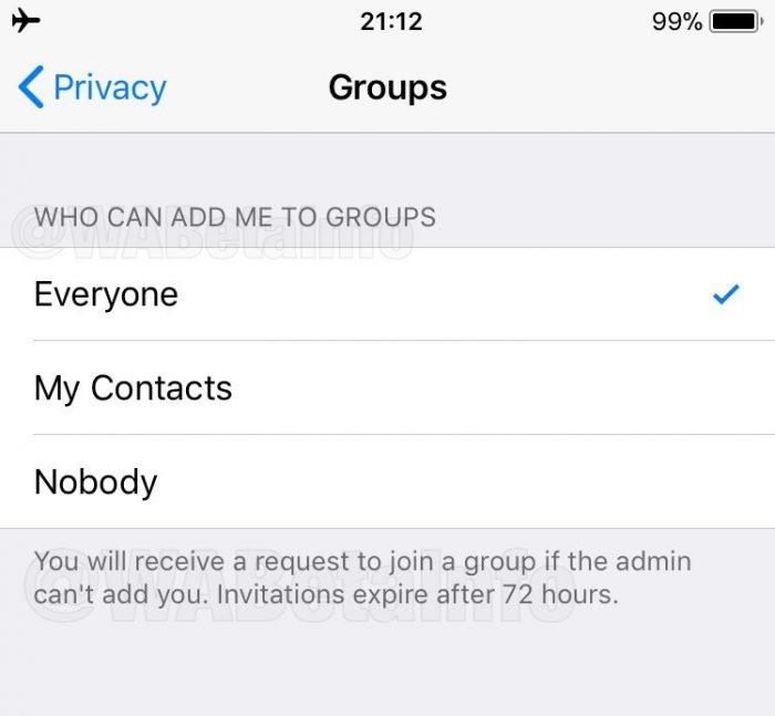 WhatsApp - Convite para grupos