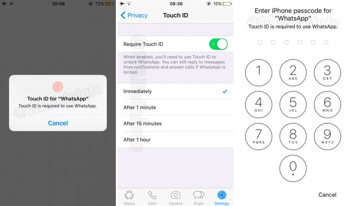 WhatsApp protege mensagens do iPhone com Touch ID e Face ID