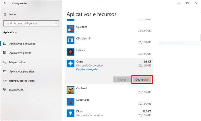Microsoft / configurações do Windows 10 / como desinstalar aplicativos nativos do windows 10