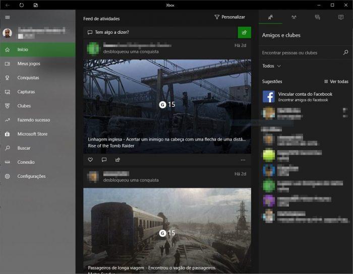 Microsoft / app Xbox / App Xbox no Windows