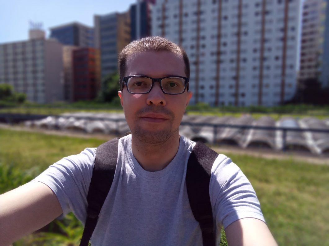 Selfie registrada com o LG K12+