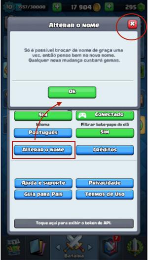 Mudar Nome Clash Royale