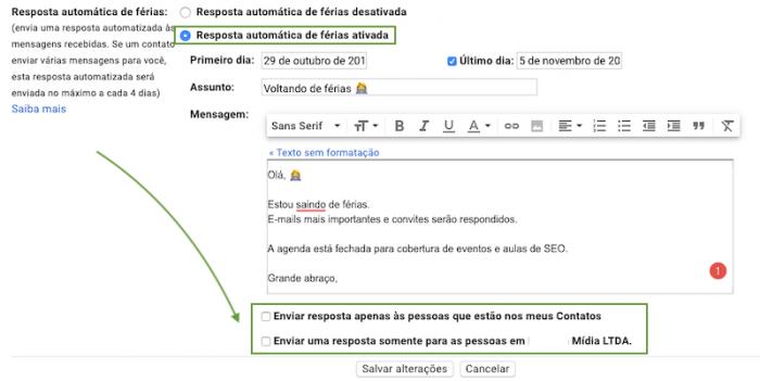 Resposta Automatica Gmail