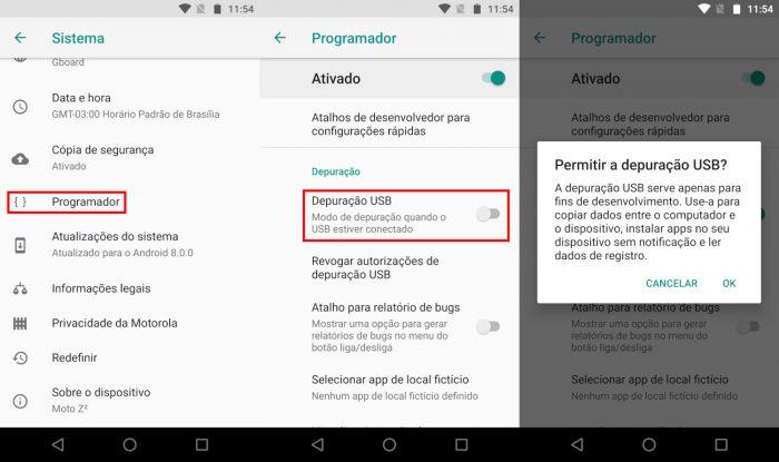 Android / depuração USB / como instalar lineageos