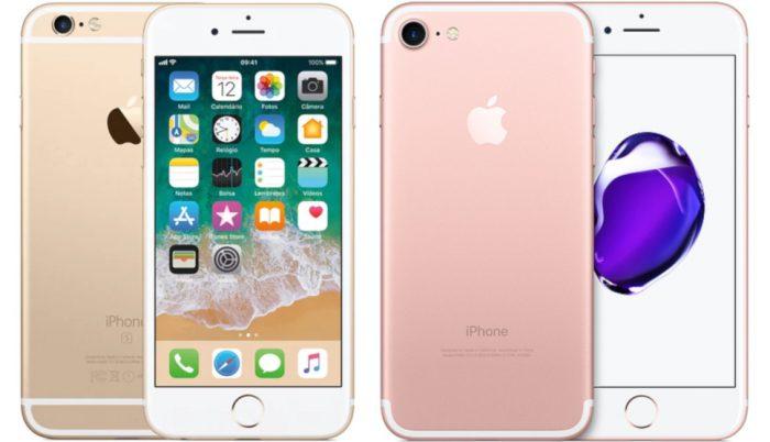 Apple / iPhone 6s e iPhone 7 / diferença entre iphone 6s e 7