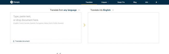 DeepL / tradutor