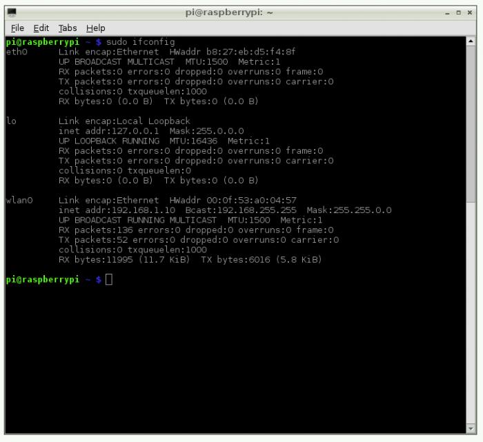 ifconfig / Como acessar o Raspberry Pi remotamente