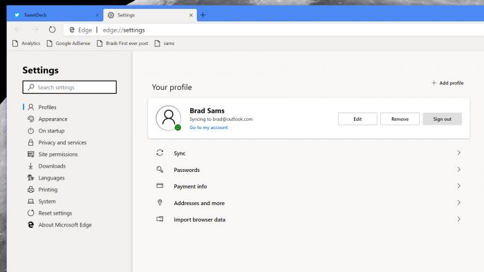 Microsoft Edge traz modo escuro e extensões do Chrome em
