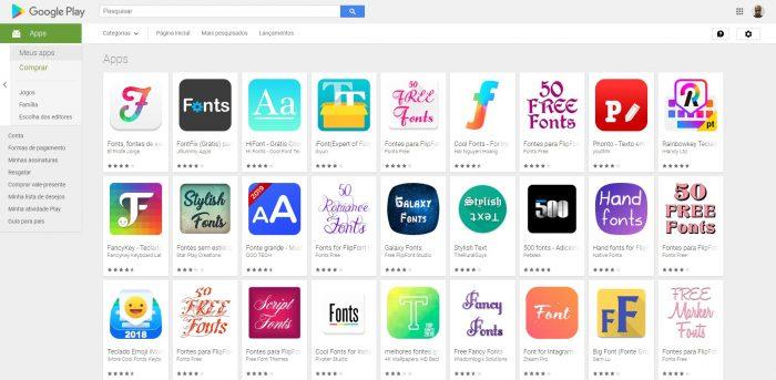 Play Store / como mudar a letra do celular