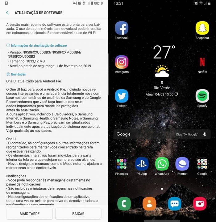 Boadica - Notícias - Samsung atualiza Galaxy Note 8 para