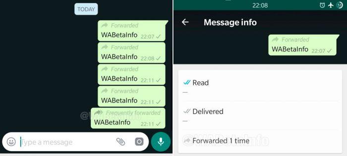 WhatsApp vai destacar mensagens encaminhadas com mais frequência