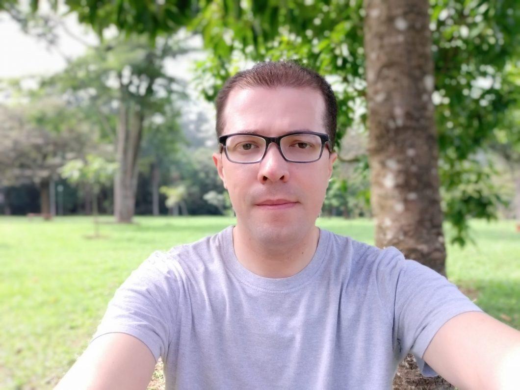 Selfie registrada com o Galaxy A9