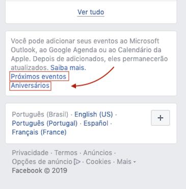 Eventos Facebook - Google Agenda