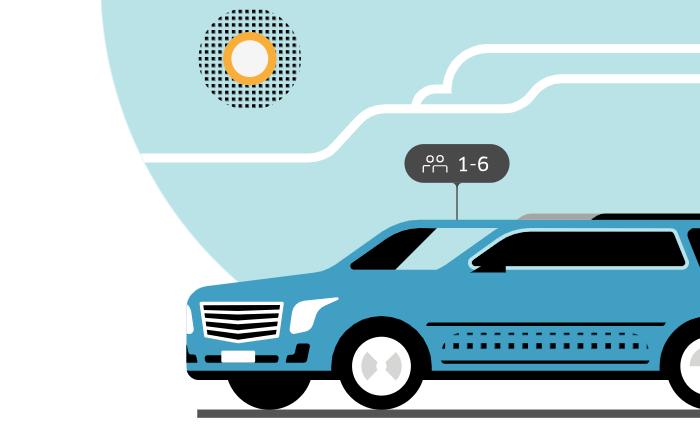 Uber para 5 pessoas