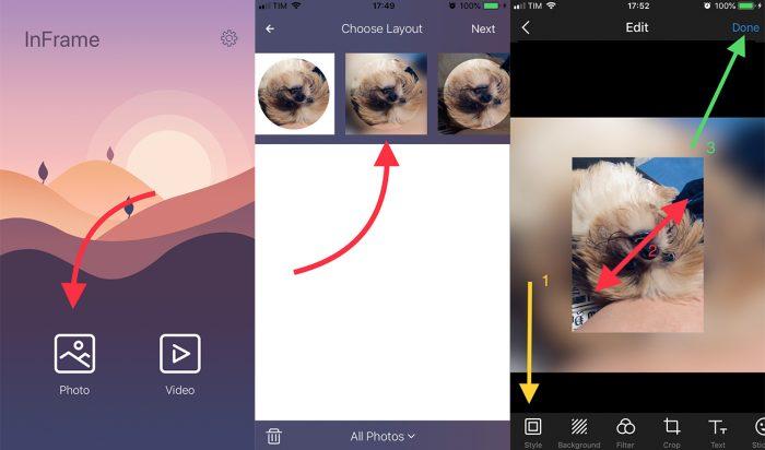 aplicativo inframe para diminuir foto para whatsapp