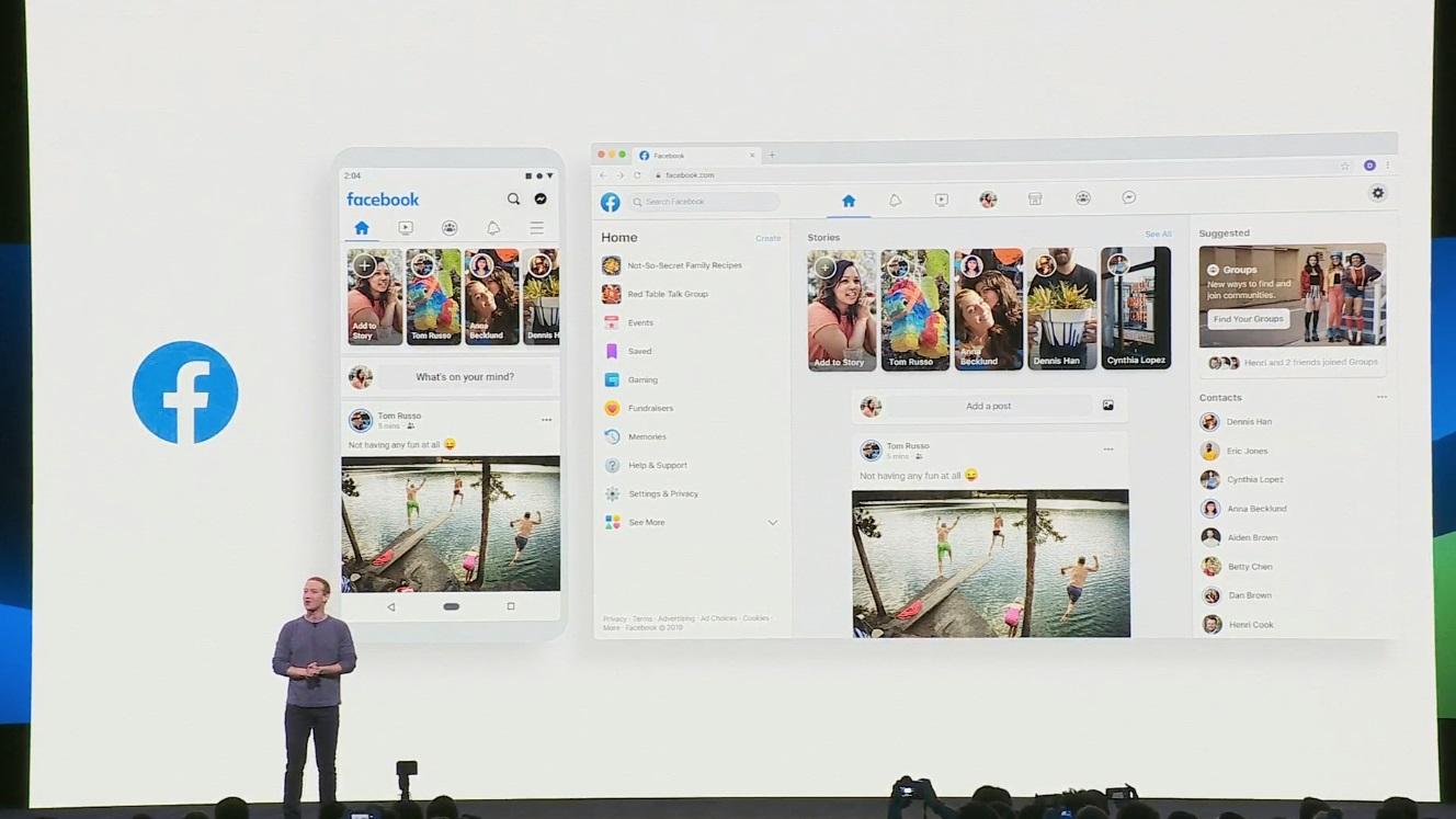 Resultado de imagem para facebook novo design f8 2019