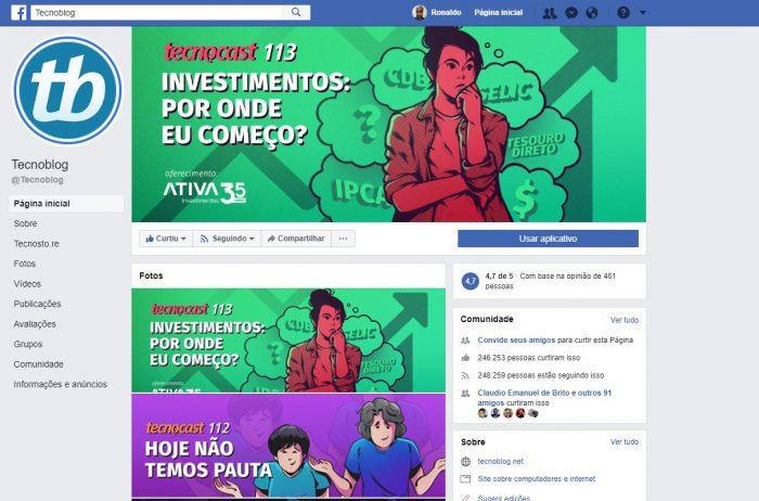Facebook / Página do TB / capa para facebook