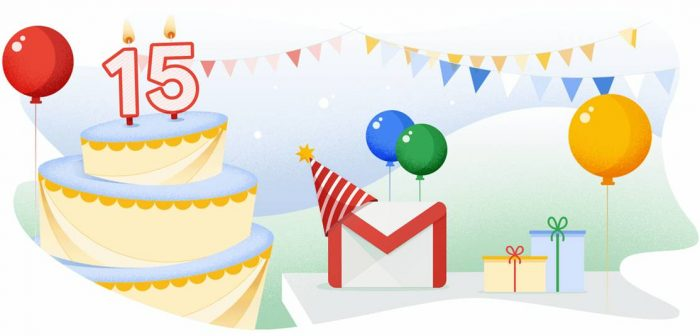 Gmail 15 anos