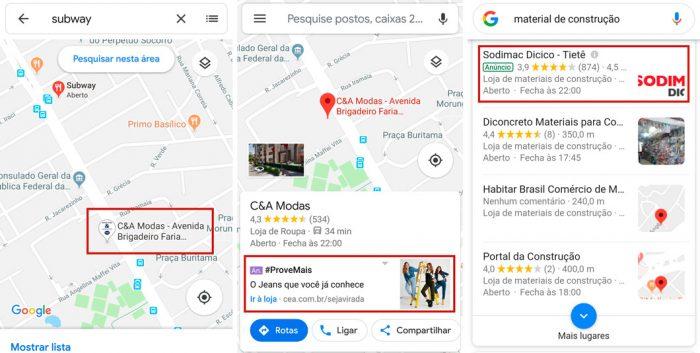 Google Maps está prestes a exibir anúncios com mais frequência
