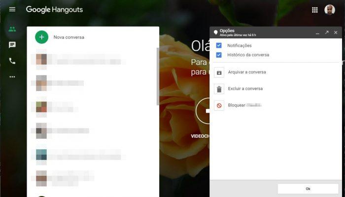 Google Hangouts / como saber se fui bloqueado no hangouts
