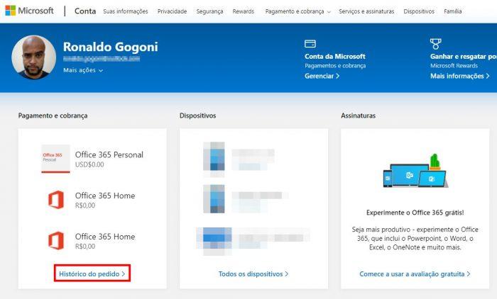 Conta Microsoft / Como pedir reembolso na Microsoft Store