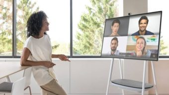 Microsoft Surface Hub 2S tem tela de 50 polegadas e custa US$ 9 mil