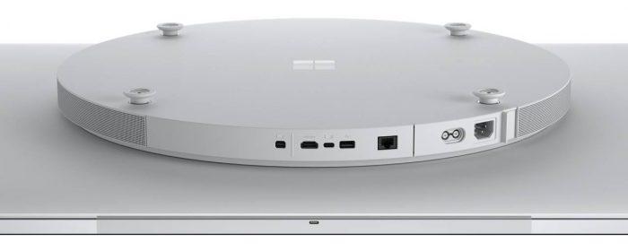 Traseira do Surface Hub 2S